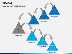 Triangle shape PPT slide 4