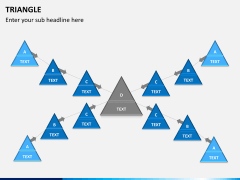 Triangle shape PPT slide 8