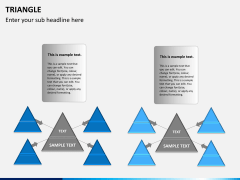 Triangle shape PPT slide 9