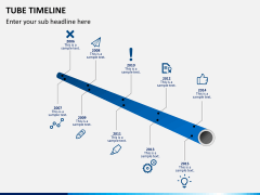 Tube timeline PPT slide 1