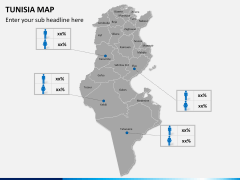 Tunisia map PPT slide 15