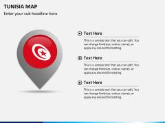 Tunisia map PPT slide 17