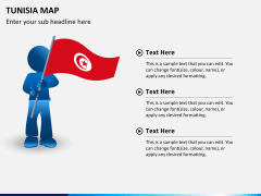 Tunisia map PPT slide 18