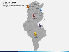 Tunisia map PPT slide 3