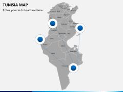 Tunisia map PPT slide 4