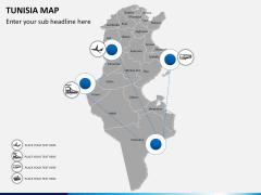 Tunisia map PPT slide 5