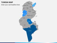 Tunisia map PPT slide 8