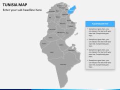 Tunisia map PPT slide 9