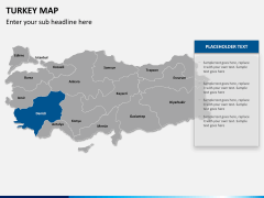 Turkey map PPT slide 10