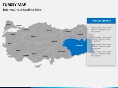 Turkey map PPT slide 11