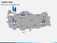 Turkey map PPT slide 12
