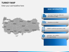 Turkey map PPT slide 13