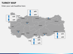 Turkey map PPT slide 14