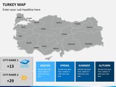 Turkey map PPT slide 16
