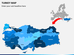 Turkey map PPT slide 2