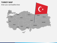 Turkey map PPT slide 3