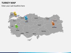 Turkey map PPT slide 4