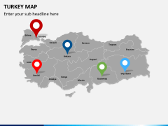 Turkey map PPT slide 5