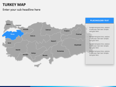 Turkey map PPT slide 8