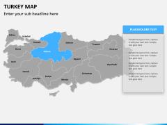 Turkey map PPT slide 9