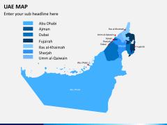 UAE map PPT slide 1