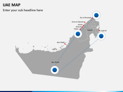 UAE map PPT slide 10