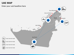 UAE map PPT slide 11