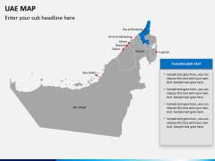 UAE map PPT slide 12