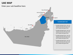 UAE map PPT slide 13