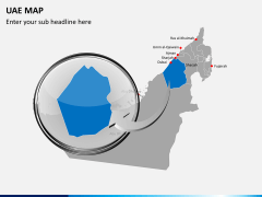 UAE map PPT slide 14