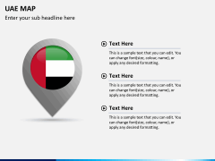 UAE map PPT slide 16