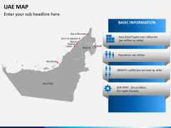 UAE map PPT slide 3