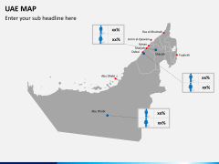 UAE map PPT slide 4