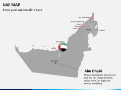 UAE map PPT slide 5