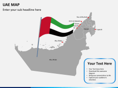 UAE map PPT slide 6