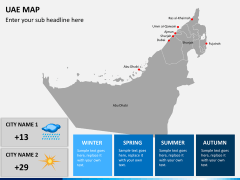 UAE map PPT slide 7