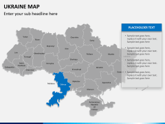Ukraine map PPT slide 10