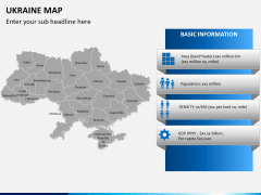 Ukraine map PPT slide 13