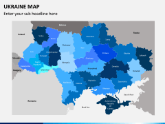 Ukraine map PPT slide 2