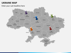 Ukraine map PPT slide 5