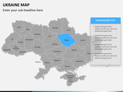 Ukraine map PPT slide 8
