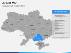Ukraine map PPT slide 9
