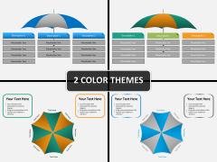 Umbrella chart PPT cover slide