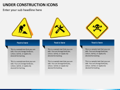 Under construction icons PPT slide 5