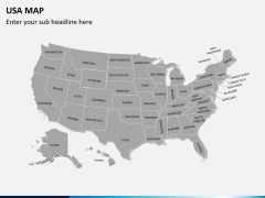 USA map PPT slide 1