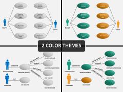 Use cases diagram PPT cover slide