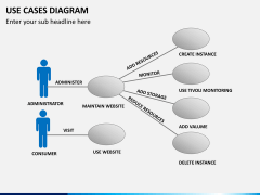 Use cases diagram PPT slide 1