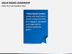 Value Based Leadership PPT slide 3