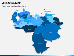 Venezuela map PPT slide 1