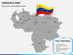 Venezuela map PPT slide 14